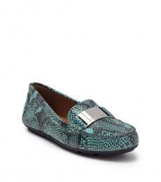 Calvin Klein Blue Lisette Snake Print Loafers