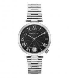 BCBGMaxazria Silver Black Dial Watch