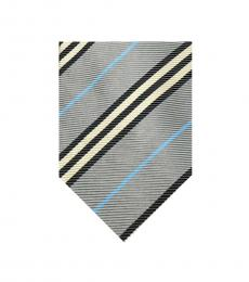 Burberry Grey Black Strips Tie