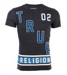 True Religion Black Blue Logo Defense T-Shirt