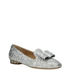 Silver Sarno Glitter Loafers