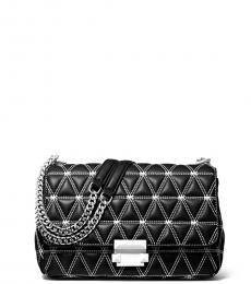 Black Sloan Quilted Medium Shoulder Bag