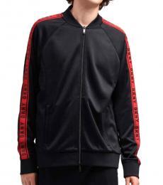 Black Retro Track Jacket