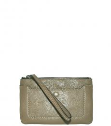 Marc Jacobs French Grey Zip Wristlet