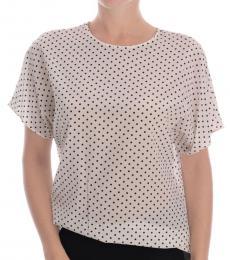 Dolce & Gabbana White Polka Dot Top