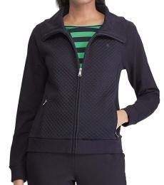 Ralph Lauren Navy Blue Quilted Full-Zip Jacket