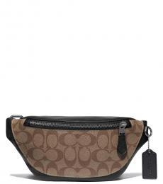 Coach Tan Warren Mini Belt Bag