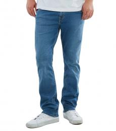 True Religion Blue Ricky Straight Fit Jeans