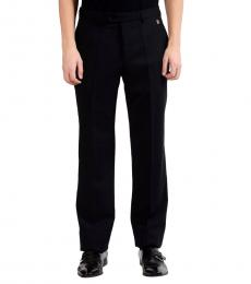 Versace Collection Black Wool Dress Pants