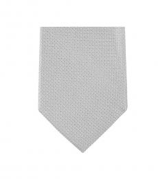 Michael Kors Grey Streamline  Slim Silk Tie