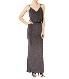 Calvin Klein Silver Metallic Blouson Dress