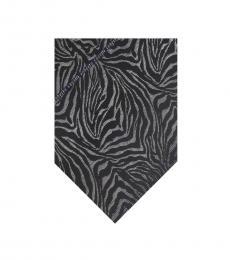 Black Zebra Print Tie