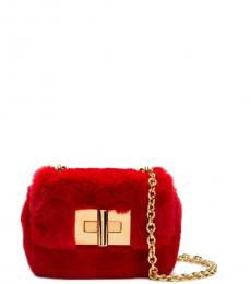 Tom Ford Red Buckle Mini Shoulder Bag