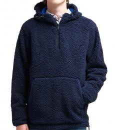 Navy Blue Sherpa Pullover