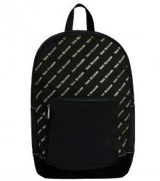 True Religion Black Monogram Large Backpack