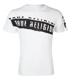 True Religion White Stencel Graphic T-Shirt