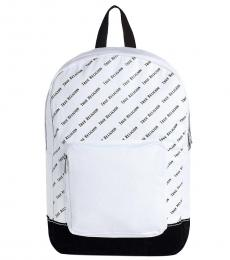 True Religion White Printed Large Backpack