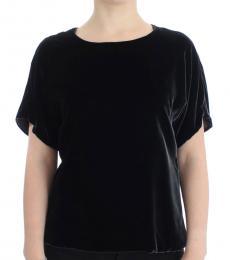 Dolce & Gabbana Black Solid Velvet Top