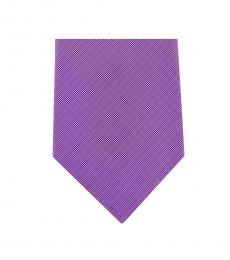 Michael Kors Purple Dapper Slim Silk Tie