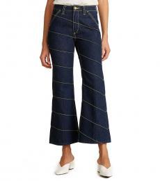 Denim Asymmetric Stitch Jeans