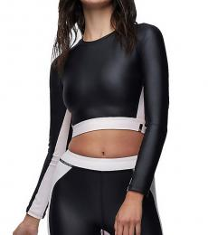 Black Performance Cut Out Crop Top