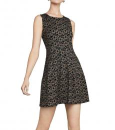 BCBGMaxazria Black Lace A-Line Mini Dress