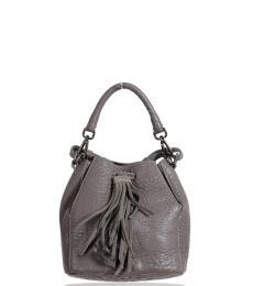 Just Cavalli Grey Textured Mini Bucket Bag