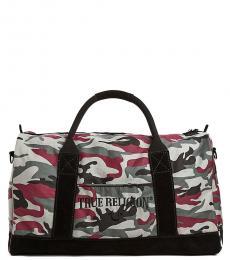 True Religion Camo Print Large Duffle Bag