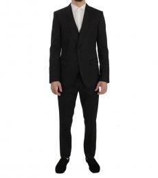 Dolce & Gabbana Grey Stretch Slim Fit Suit