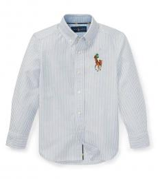 Little Boys Blue Striped Oxford Shirt