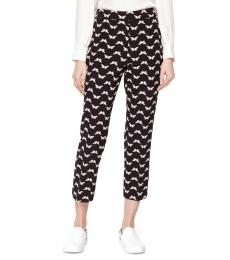 Black Butterfly Crepe Pant