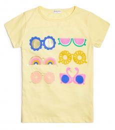 J.Crew Little Girls Yellow Sunglasses T-Shirt