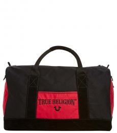 True Religion Black Monogram Large Duffle Bag