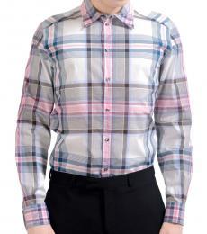 Dolce & Gabbana Multicolor Plaid Dress Shirt