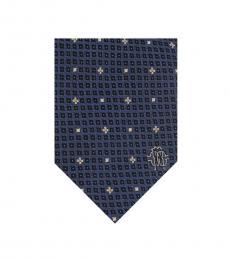 Blue Micro Geometric Tie