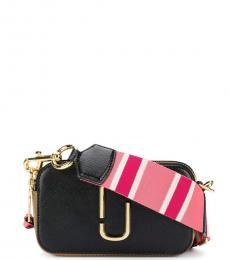 Marc Jacobs Black Pink Snapshot Small Crossbody
