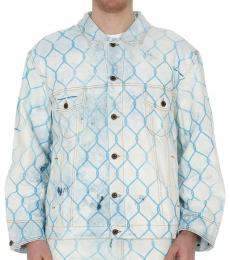 Light Blue Printed Denim Jacket