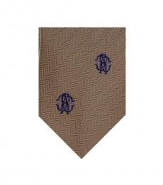 Brown Herringbone Tie