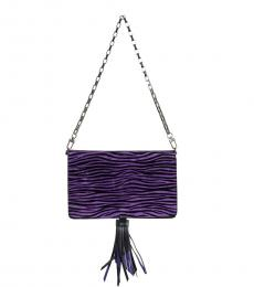 Dark Purple Tassel Small Shoulder Bag