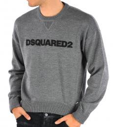 Grey Logo Wool Sweater