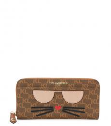 Brown Monogram Kitty Continental Wallet