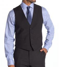 Charcoal Plain Slim Fit Suit Vest