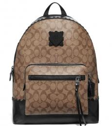 Coach Tan West Rubber Patch Large Backpack