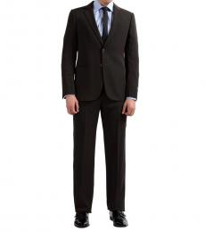 Brown Striped Two Button Suit