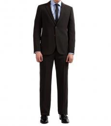 Armani Collezioni Brown Striped Two Button Suit