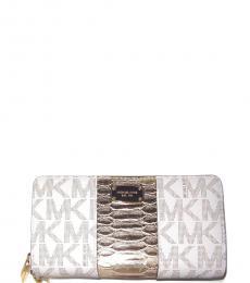 Vanilla Center Stripe Wallet