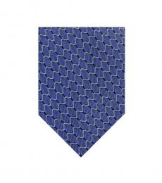 Sky Blue Chevron Tie