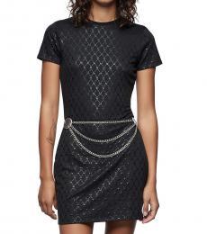 Black Monogram Print Dress