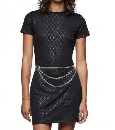 True Religion Black Monogram Print Dress