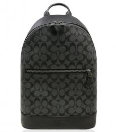Coach Charcoal Signature West Large Backpack